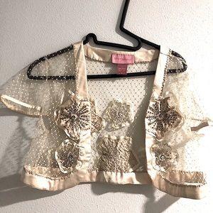 Vintage Betsey Johnson Lace Shrug.